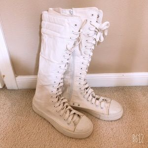 Shoes - White sneaker boots